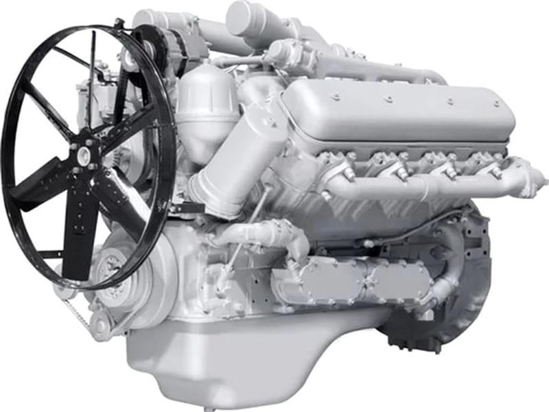 Двигатель ЯМЗ 7512.10 на МЗКТ 651151 и  МОАЗ 75051, 4048